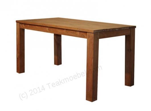 Gładki stół tekowy 140x80cm