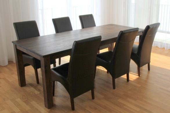 Gładki stół tekowy w stylu kolonialnym 220x100cm