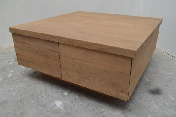 Gładki stolik kawowy BLOK 80x80cm