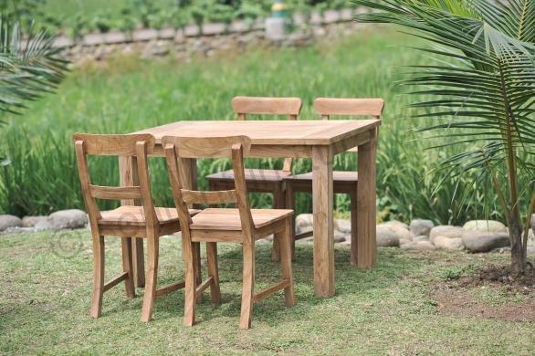 Stół ogrodowy 120x80 cmz 4 krzesłami Berlin