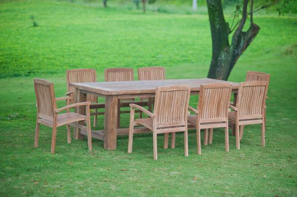 Stół ogrodowy Mamut z 8 krzesłami