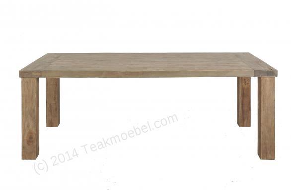 Stół tekowy klasztorny na prostych nogach 200x100cm