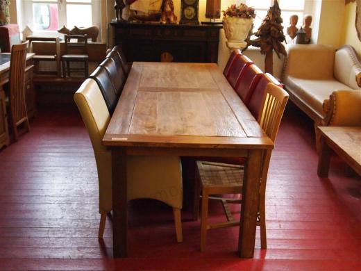 Stół tekowy ze starego drewna 300x100cm