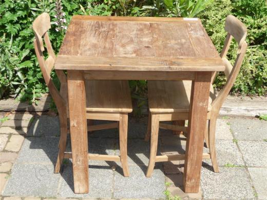 Stół ze starej teczyny, 80x80 cm