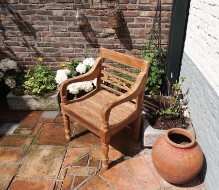 Krzesło tekowe Bahnhofstuhl
