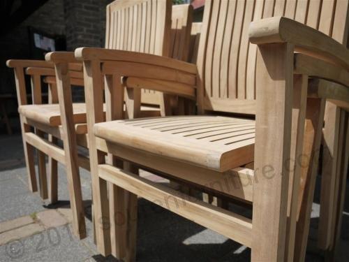 Tekowe krzesło Beaufort