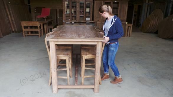 Tekowy stół barowy 200x100cm Rustikal