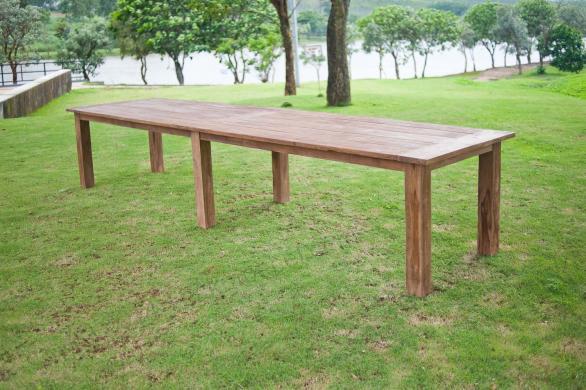 Tekowy stół ogrodowy 400x100cm dla 12 krzeseł