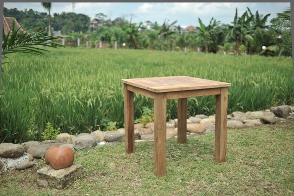 Tekowy stół ogrodowy 80x80cm