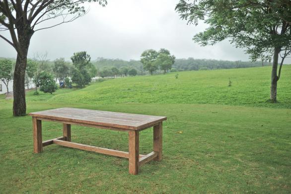 Tekowy stół ogrodowy Mamut 250x100cm