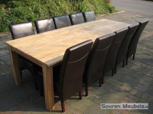 Tekowe krzesła skórzane brązowe