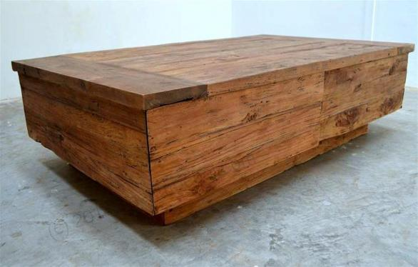 Tekowy stolik kawowy BLOK 120cm Dingklik