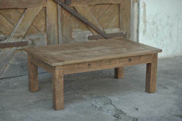 Tekowy stolik kawowy Dingklik 120 x 80 cm z szufladami