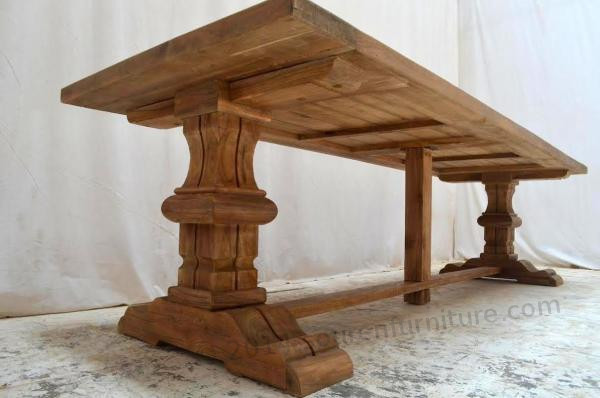 Tekowy stół klasztorny zewnętrzny